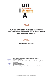 TÍTULO PLAN DE MARKETING PARA LOS PRODUCTOS