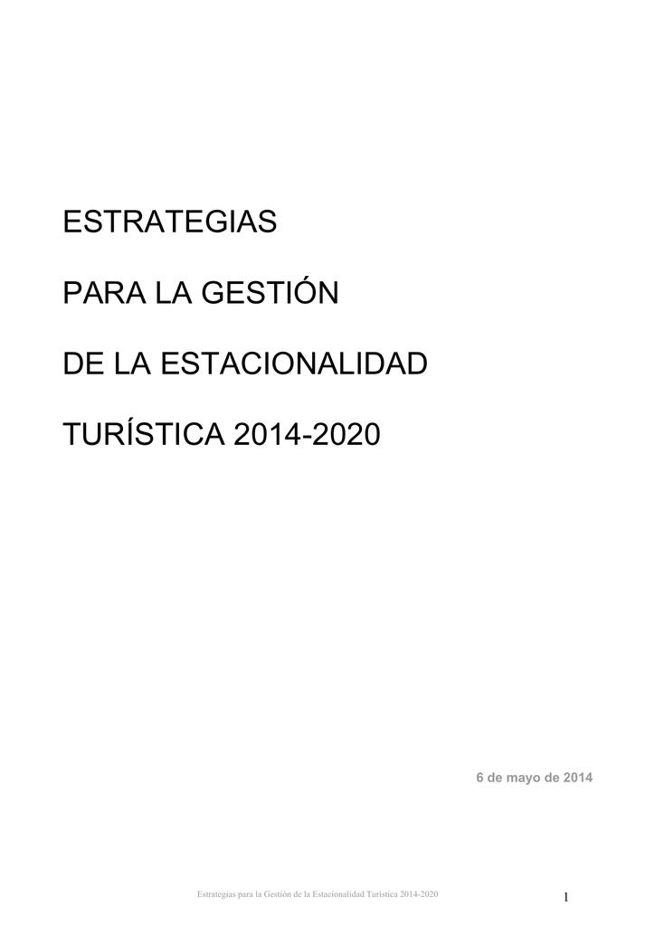 Calendario Escolar 2020 16 Cantabria.Estrategias Para La Gestion De La Estacionalidad Turistica 2014 2020
