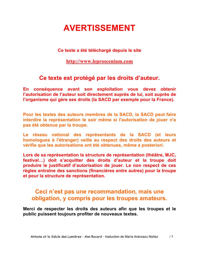 Antoine Et Le Siècle Des Lumièresa 27 11