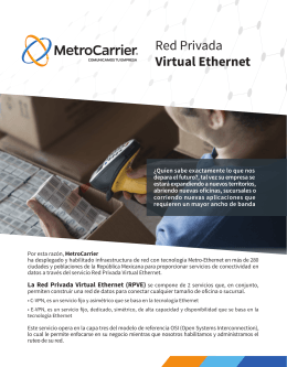 La Red Privada Virtual Ethernet