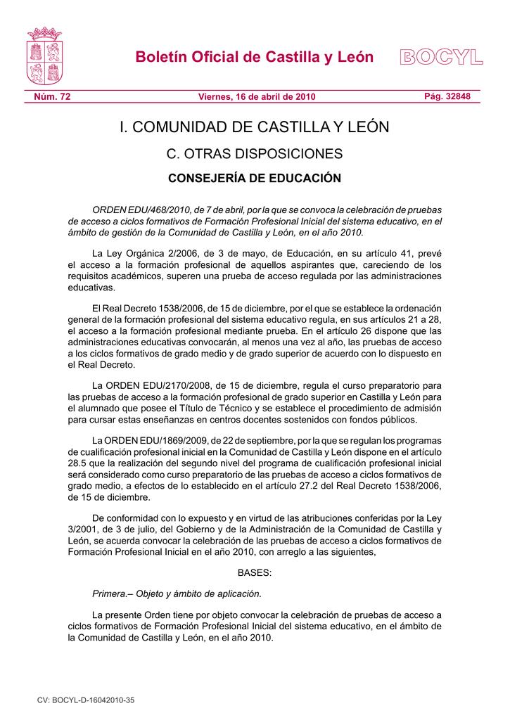 Convocatoria Portal De Educación De La Junta De Castilla Y