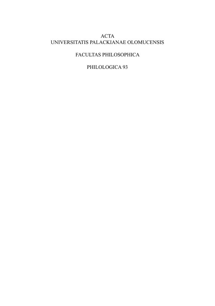 Acta universitatis palackianae olomucensis facultas fandeluxe Images