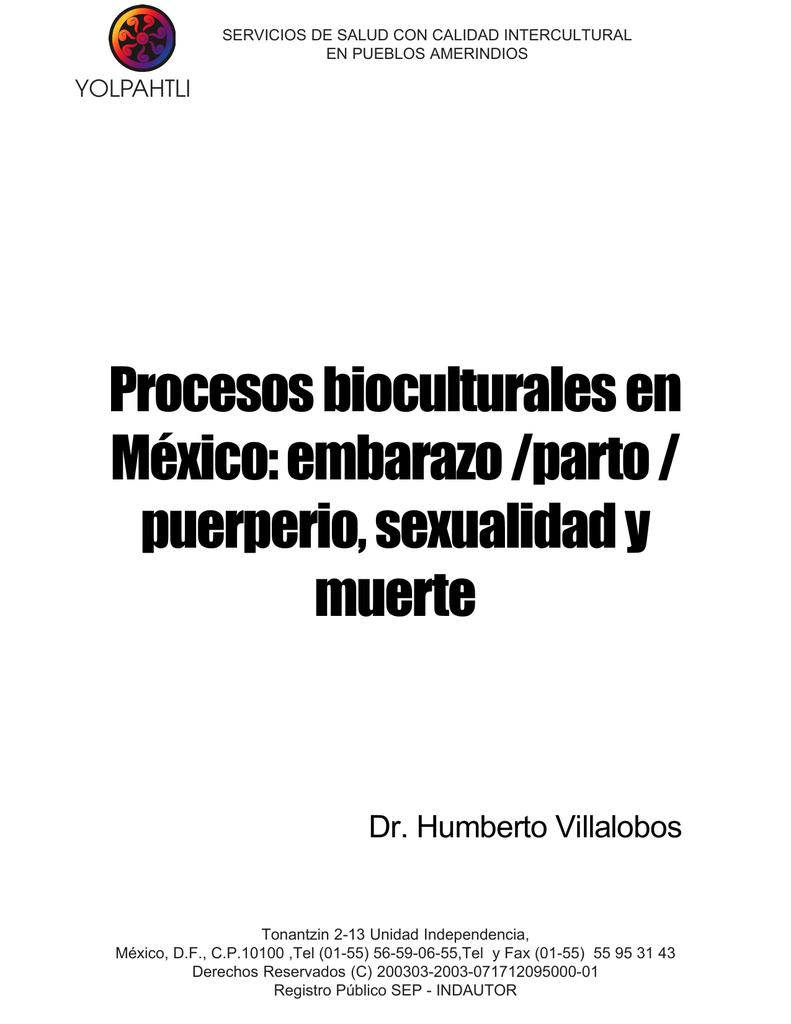 Procesos bioculturales en México: embarazo /parto