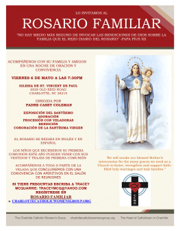 rosario familiar - Charlotte Catholic Women`s Group