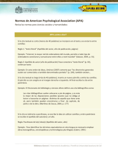 Normas de American Psychological Association (APA)