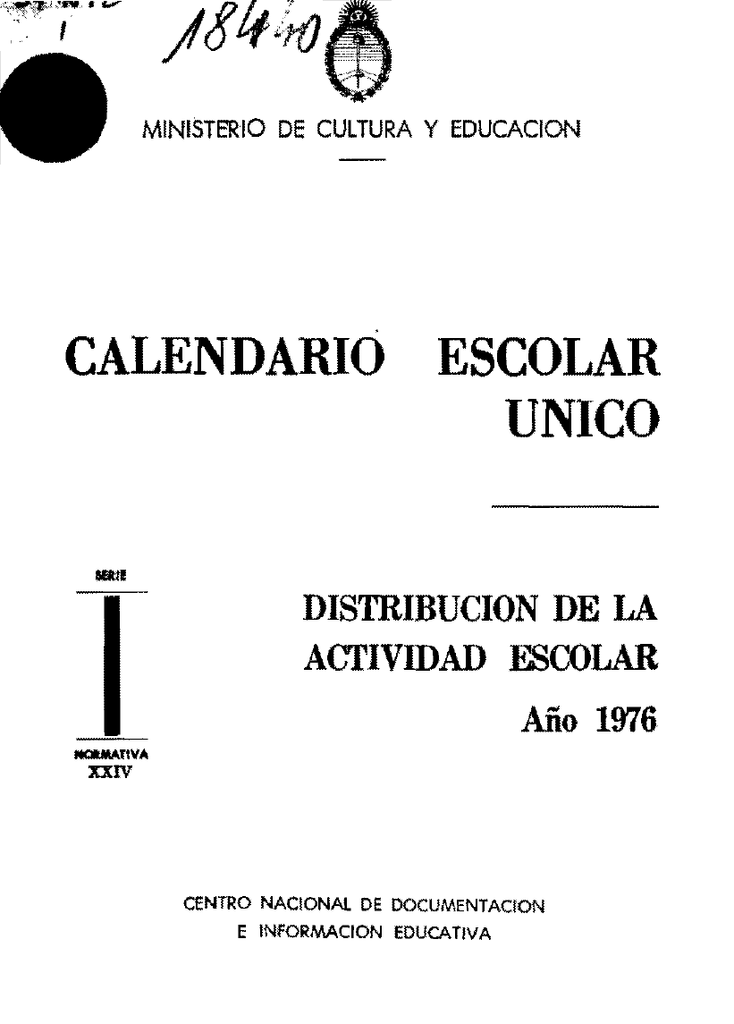 Calendario De 1976 Completo.Texto Completo Biblioteca Nacional De Maestros