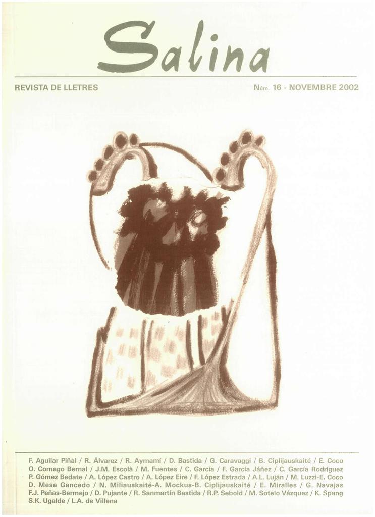 b2b3302e605a0 Salina   revista de la Facultat de Lletres de Tarragona Núm. 16, 2002