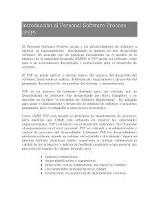 Introducción al Personal Software Process (PSP) - UT-AGS