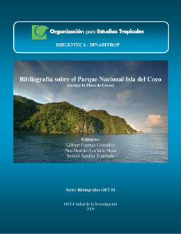 Isla del Coco - Organization for Tropical Studies