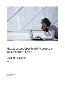 Alcatel-Lucent OpenTouch™ Connection para Microsoft Lync