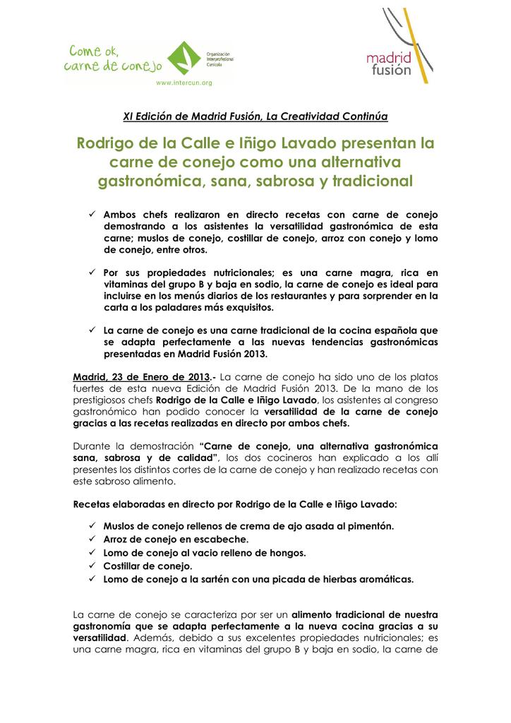 Participación En La Xi Edición De Madrid Fusión