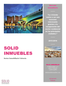 Sector Inmobiliario. Últimas tendencias. Solid Inmuebles