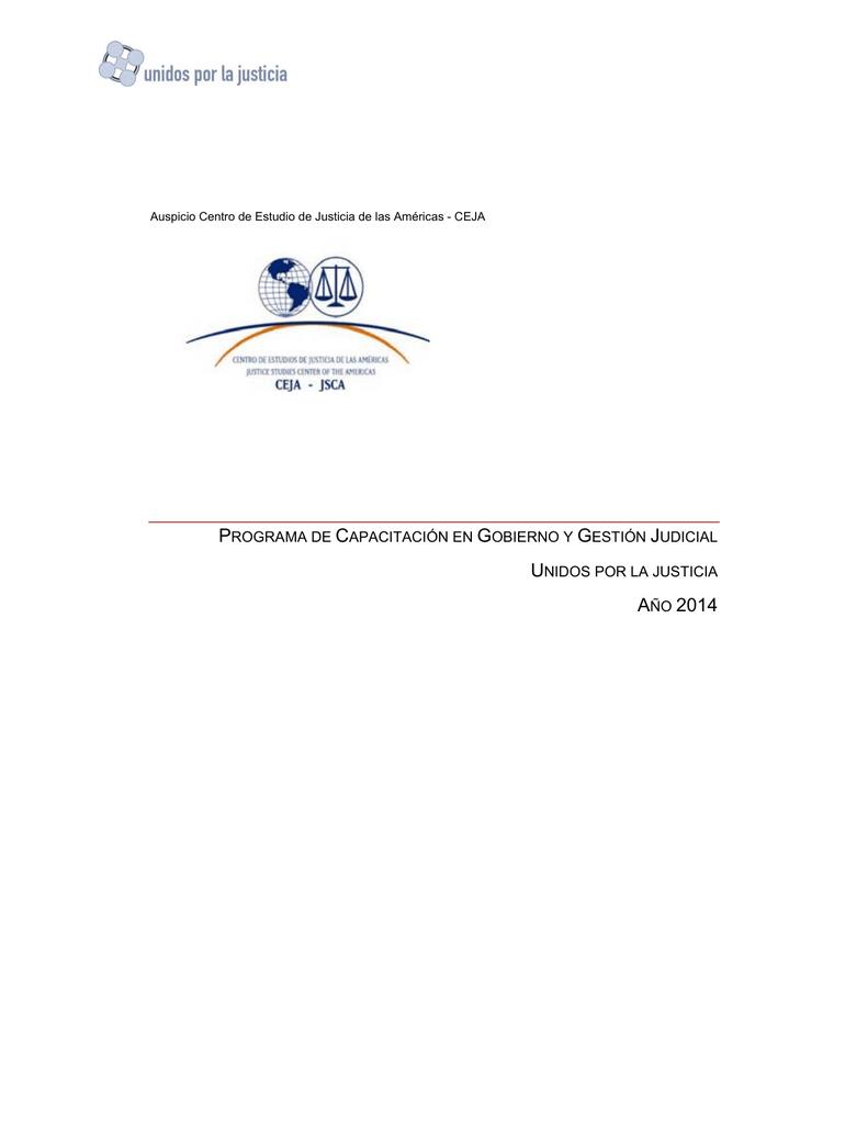 Programa Capacitacion en Gobierno y Gestion Judicial 2014