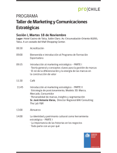 Taller de Marketing y Comunicaciones Estratégicas