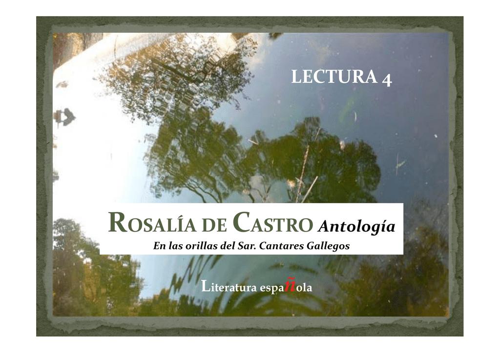 Lectura 4 í Rosalía De Castro Antología