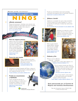 Kids Guide - Spanish - National Air and Space Museum