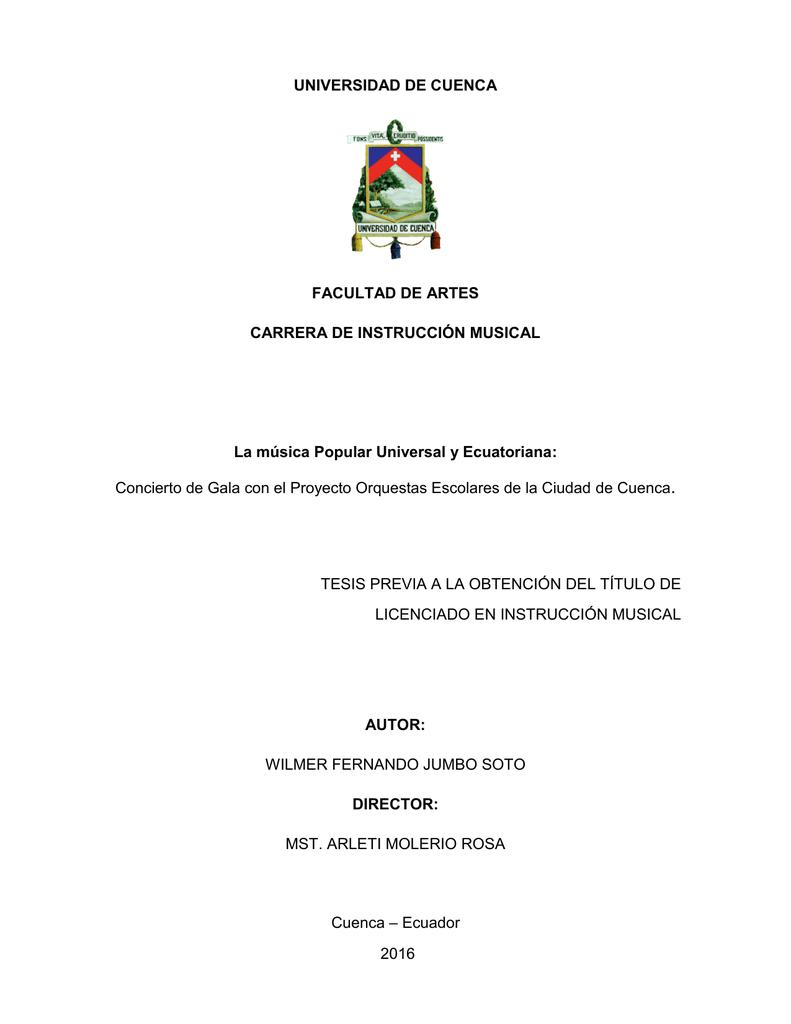 Concierto De Repositorio Digital De La Universidad De Cuenca