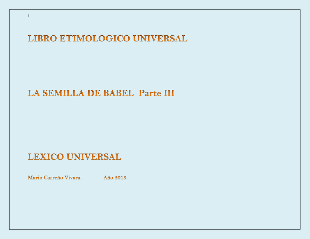 Etimología universal