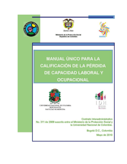 manual unico para la calificacion de la pérdida
