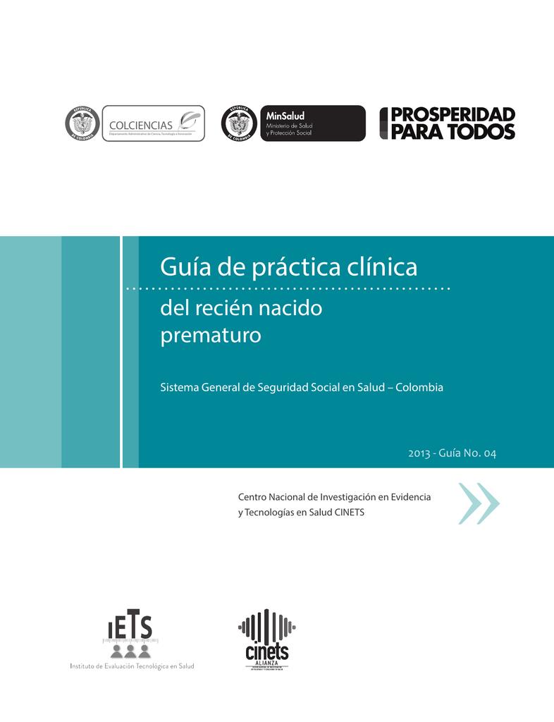 GPC_Completa_Premat - Ministerio de Salud y Protección Social
