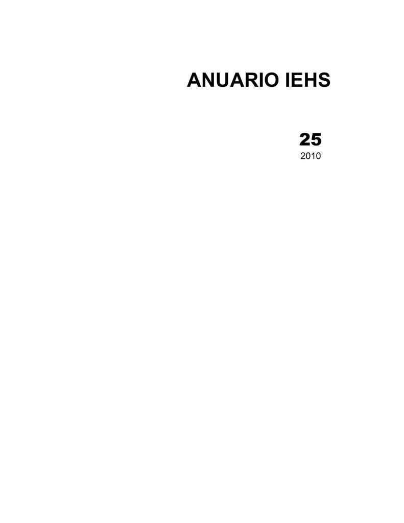 descarga esta edición completa - Anuario de/IEHS