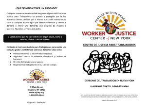 WJCNY Worker`s Rights Brochure 2016 (Spanish)