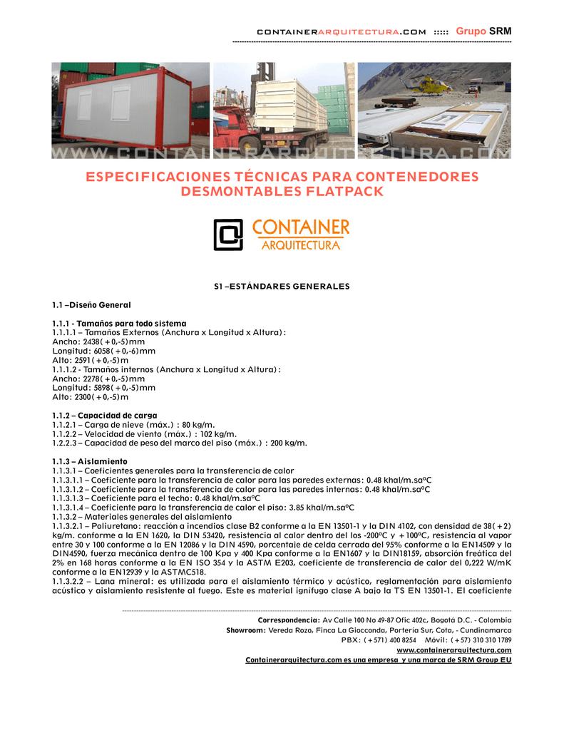 Características de contenedores Tipo Flatpack.pages
