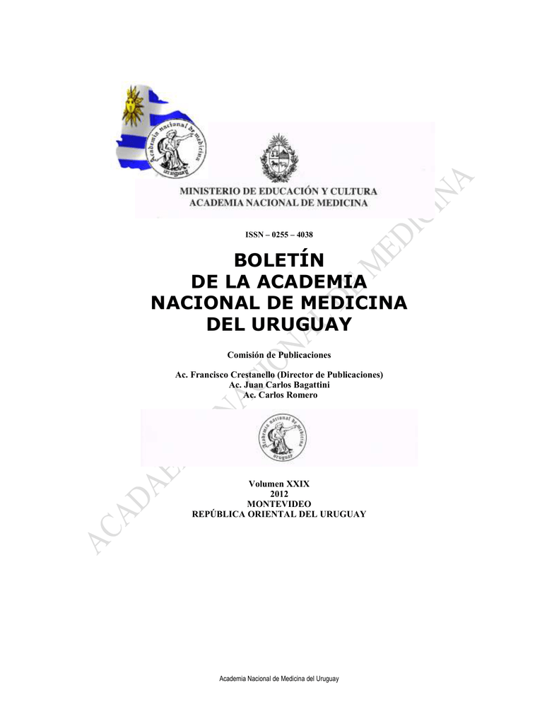 república oriental del uruguay - Academia Nacional de Medicina