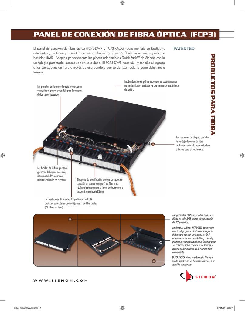30fe891405 panel de conexión de fibra óptica (fcp3)