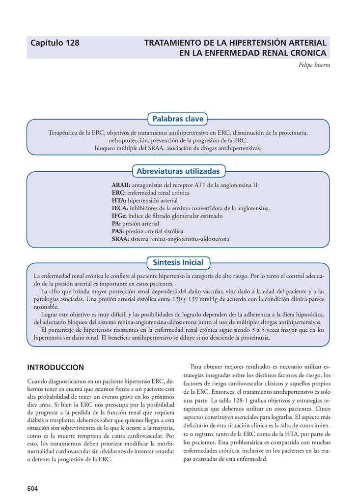 Síntomas de hipertensión arterial enfermedad renal