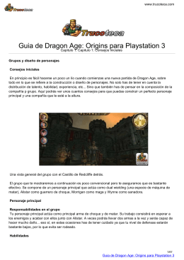 Guia de Dragon Age: Origins para Playstation 3