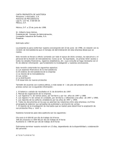 CARTA PROPUESTA DE AUDITORIA
