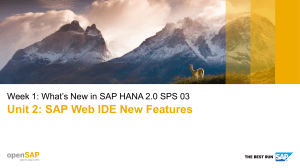 openSAP hana7 Week 1 Unit 2 IDE Presentation