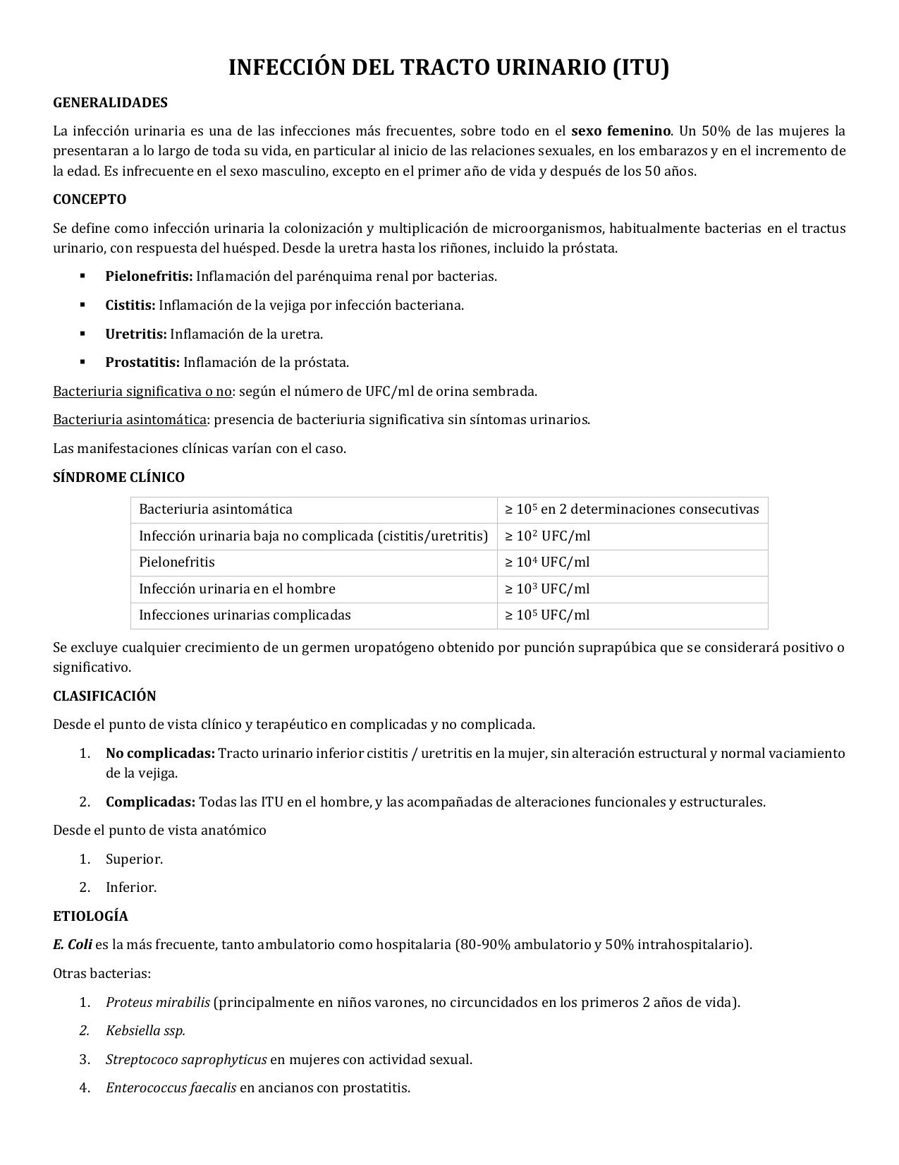 prostatitis bacteriana enterococo fecal