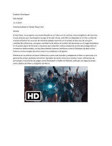 Intertextualidad en Ready Player One