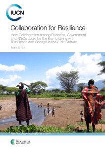 Collaboration for resilience