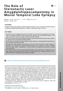The-Role-of-Stereotactic-Laser-Amygdalohippocampotomy-in-Mesial-Temporal-Lobe-Epilepsy 2016 Neurosurgery-Clinics-of-North-America