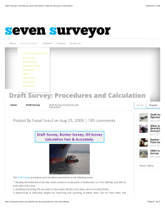Draft Survey  Procedures and Calculation  Marine Surveyor Information