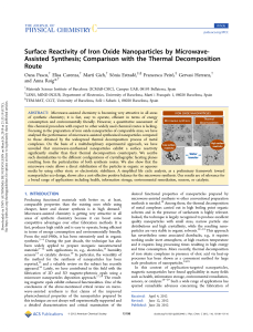 Surface Reactivity of Iron Oxide Nanoparticles by MicrowaveAssisted Synthesis; Comparison with the Thermal Decomposition