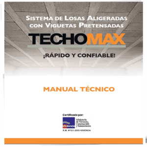 Manual de Viguetas TECHOMAX 2017