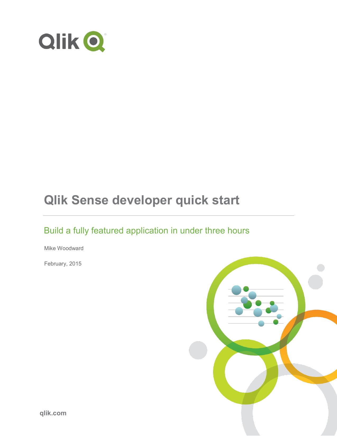 Qlik Sense developer quick start