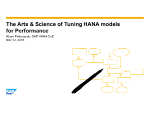 SAPHDE Webinar-The-Art-Science-of-Tuning-HANA-Models-for-Performance Abani Pattanayak SAP-Nov 2015