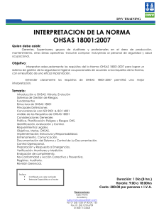 Interpretación OHSAS 18001 2007 o8t