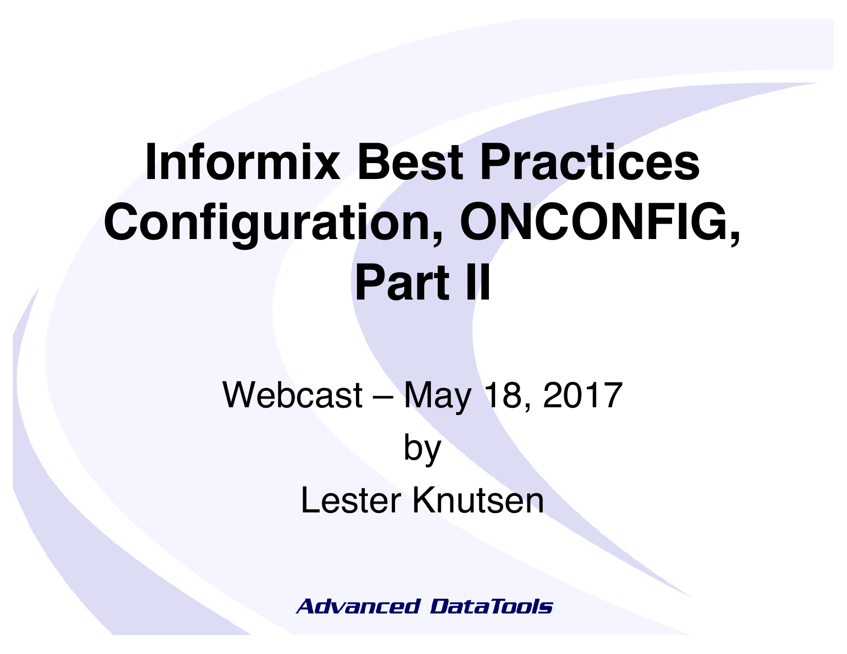 InformixBestPractices-ONCONFIG-2