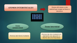 ATOMOS INTERSTICIALES