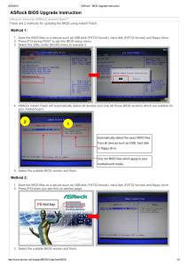 Tabla de servicios de Interrupcion del BIOS