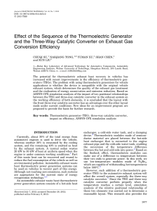 Effect of the Sequence of the Thermoelectric Generator and the Three-Way Catalytic Converter on Exhaust Gas Conversion Efficiency. NANDO pdf