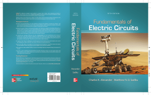 Fundamentals of Electric Circuits 5th Ed