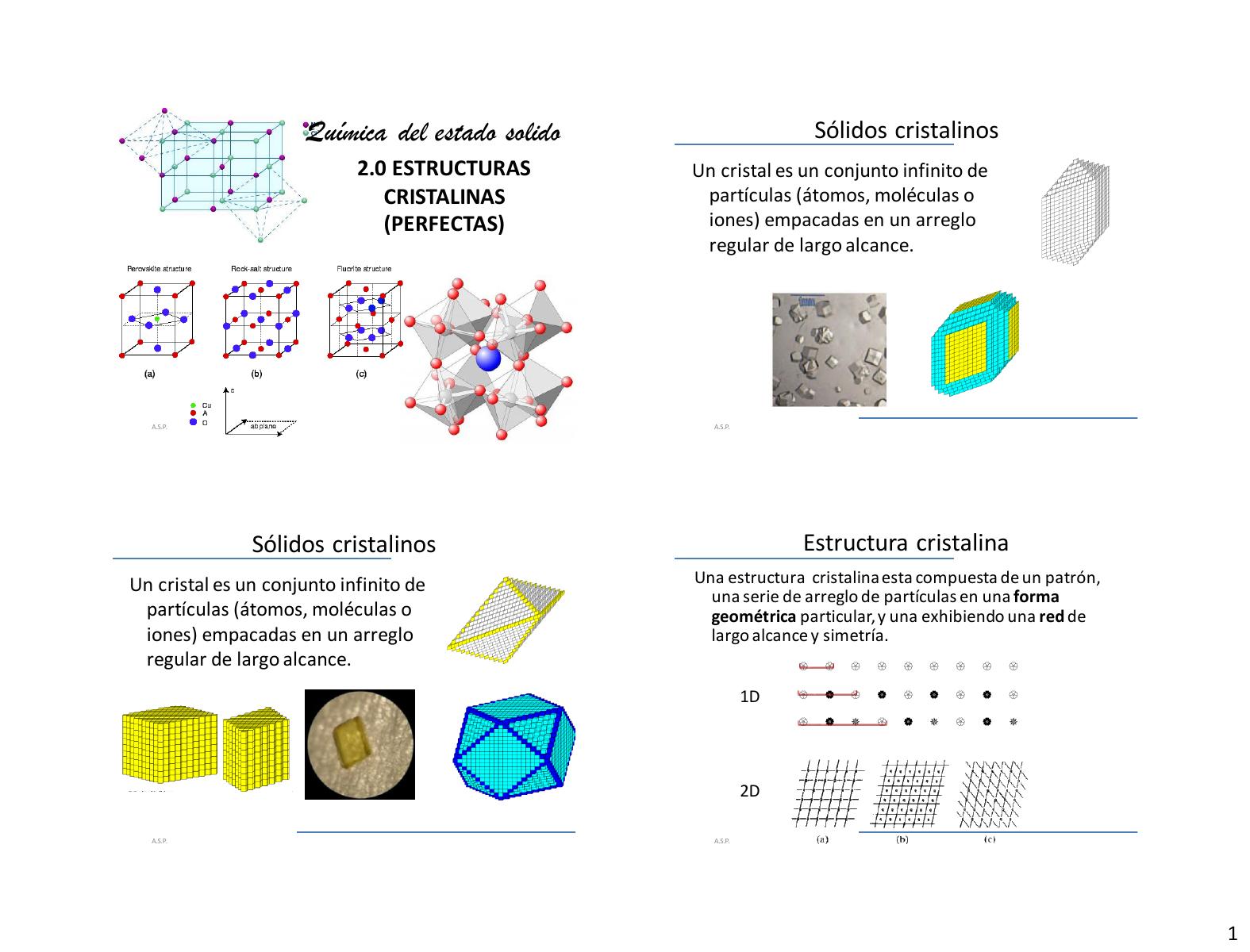 Estructructura Cristalina