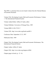 developing country debt and economic performance volume 1